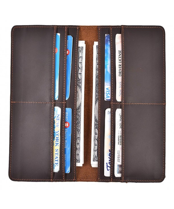 Vintage Bifold Wallet Genuine Leather
