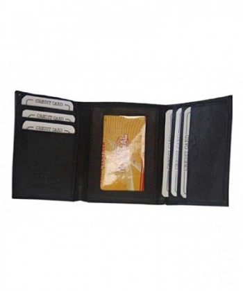 Genuine Leather Trifold Wallet Holder