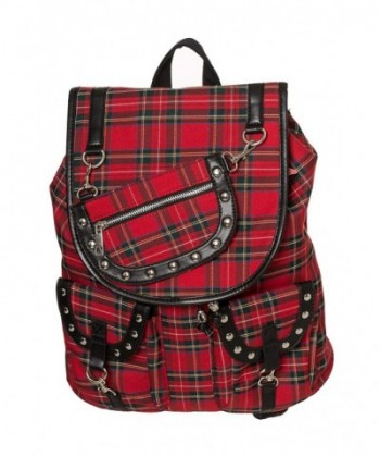 Banned Alternative Tartan Check Backpack