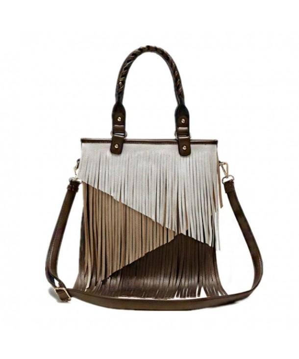 Fringe Womens Handbag Crossbody Metallic