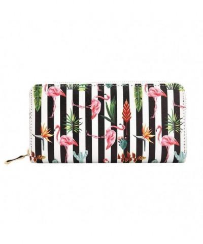 TJEtrade Wallet Leather Pineapple Flamingo