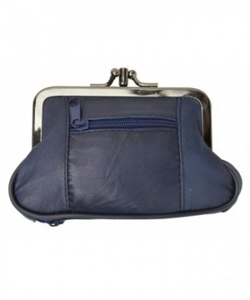 Leather Change Purse Marshal Navy