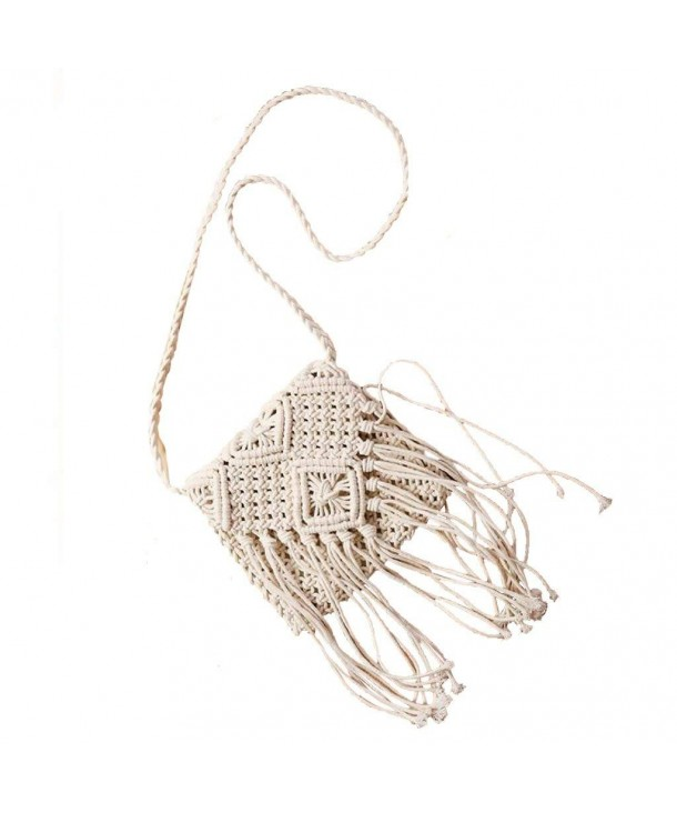 MagiDeal Stylish Crochet Cross Body Shoulder