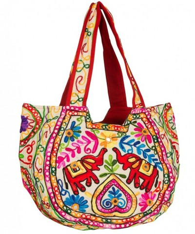 TribeAzure Elephant Embroidered Shoulder Satchel