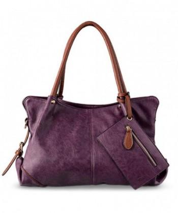 UTO Handbag Leather Shoulder Wristlet