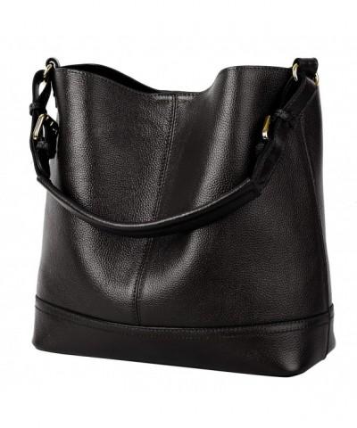 YALUXE Women Bucket Shoulder Leather