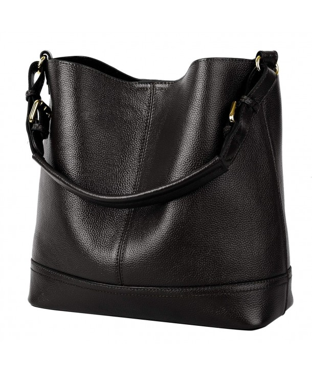 YALUXE Women Bucket Shoulder Leather