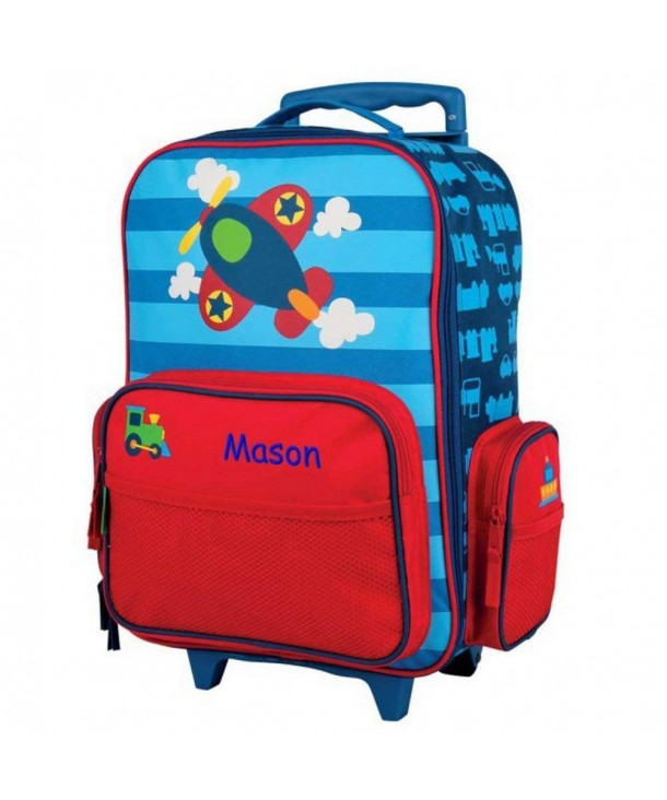 Personalized Kids Rolling Luggage Airplane