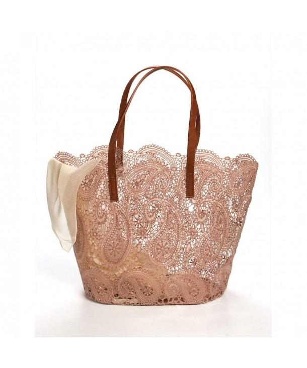 Womens Paisley Lace Tote Handbag
