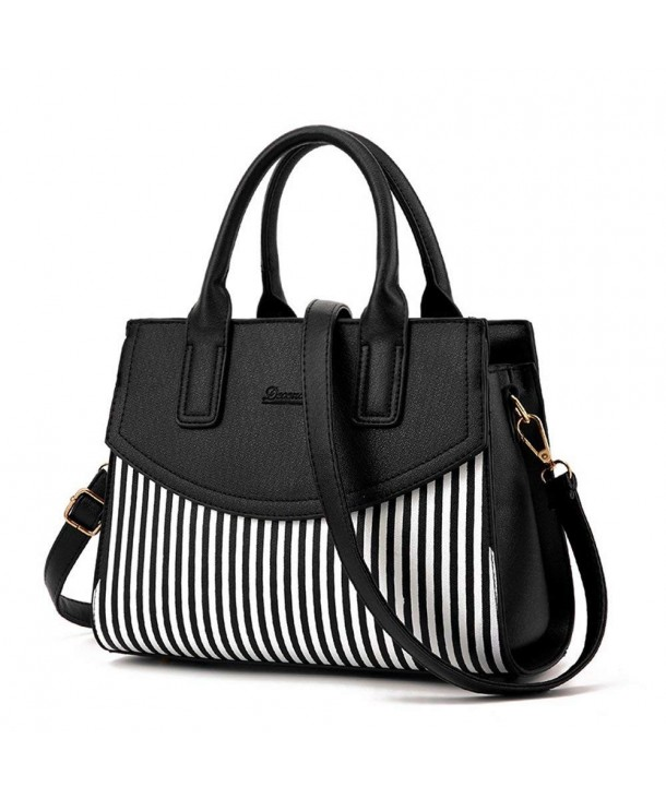Classic Stripes Leather Shoudler Crossbody