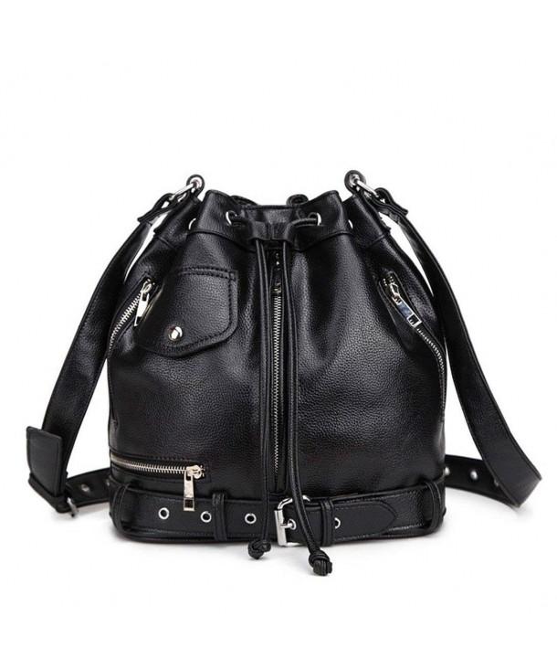 ac62435a5d ... Retro Women s Fashion Casual Leather Tote Handbag Drawstring Shoulder  Bags - CK184WSE6OH. Hynbase Fashion Leather Drawstring Shoulder