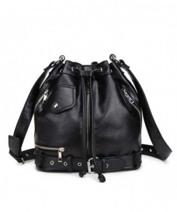 Hynbase Fashion Leather Drawstring Shoulder