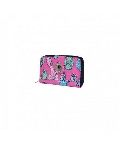 Lobster Print Quilted Twist Wallets