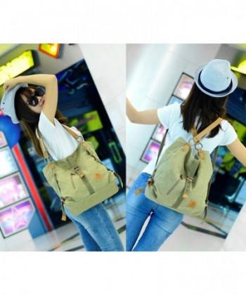 d00d192c01e Women Casual Canvas Shoulder Bags Fashion Backpack Convertible Tote Bags  Work Bag School Bag - Black - CZ18H9SWH8N