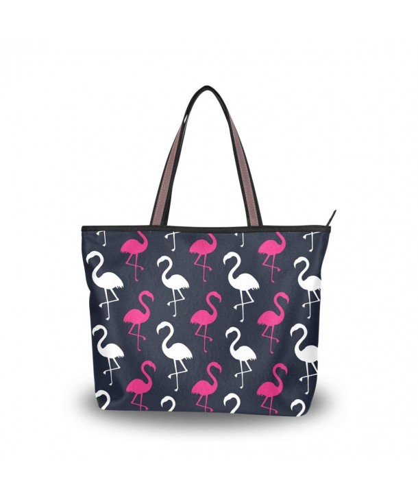 JSTEL Shoulder Tropical Flamingo Handbag