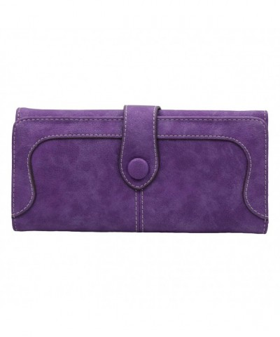 ETIAL Womens Leather Capacity Checkbook