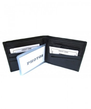 Black Leather Wallet Bifold Lambskin