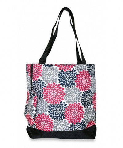 Ever Moda Floral Tote Pink