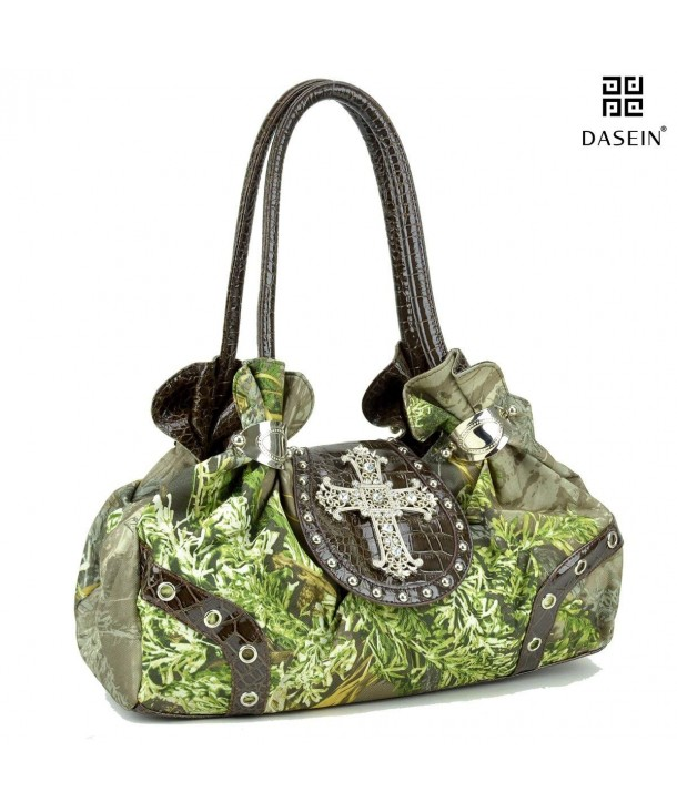 Realtree Studded Camouflage Satchel Rhinestone