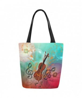 InterestPrint Music Canvas Shoulder Handbag