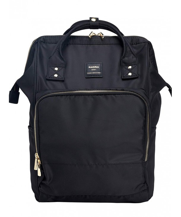 Nylon Travel Laptop Backpack School Casual Daypack Diaper Bag Women Man Black Cy18ey9zzrx