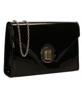 Reflective Holograph Leather Clutch Bag