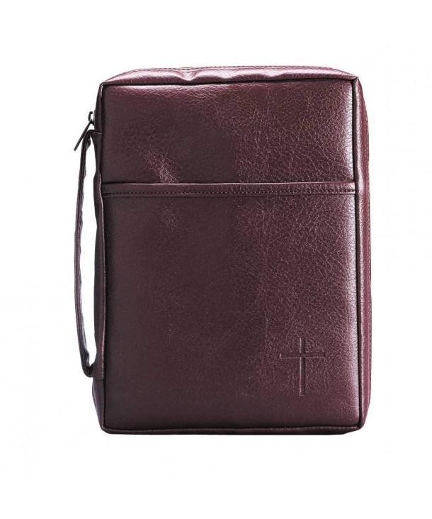 Burgundy Embossed Pocket Leather Handle
