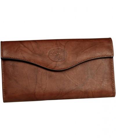 Buxton Organizer Clutch Wallet Mahogany