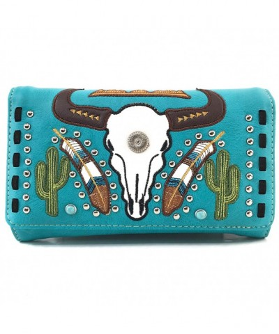 Justin West Longhorn Shoulder Turquoise