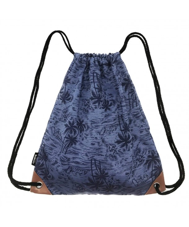 SAMGOO Drawstring Lightweight Printing Backpack