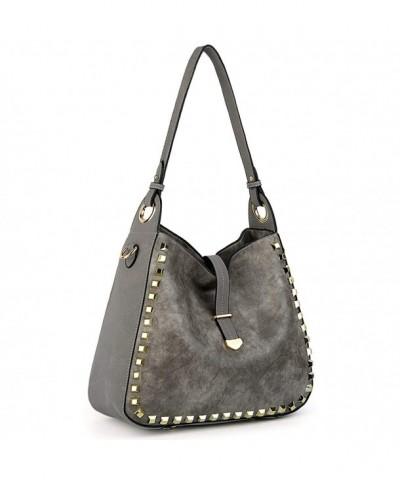 UTO Studded Shoulder Capacity Handbags