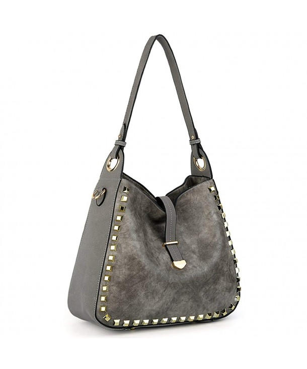 UTO Studded Shoulder Capacity Handbags