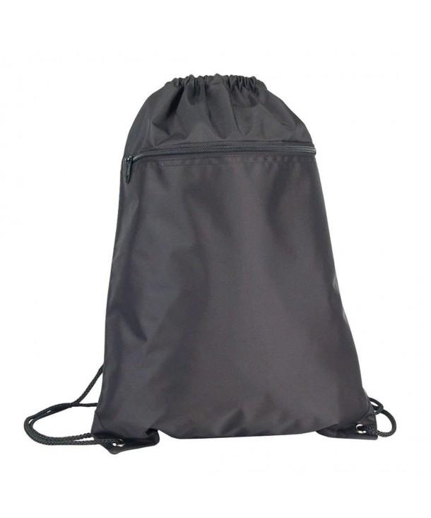 Drawstring Backpack Sack Yellow Black