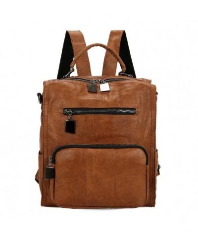 Mynos Backpack Leather Rucksack Shoulder