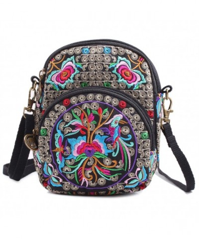 Embroidered Crossbody Shoulder Cell phone One_Size
