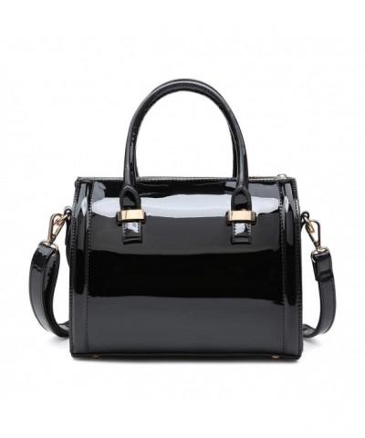 Patent Leather Handbags Satchel Shoulder