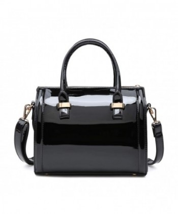 Patent Leather Handbags Satchel Shoulder