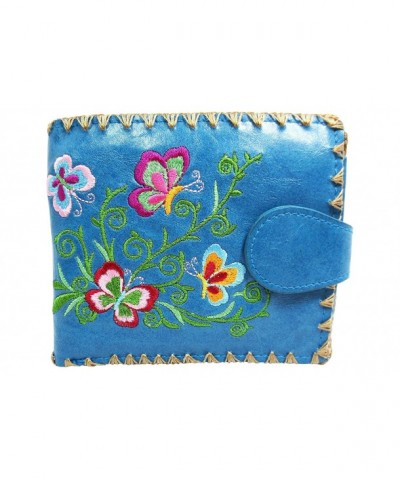 Lavishy Butterfly Kisses Embroidery Leather