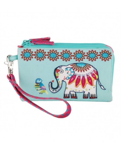 Wristlet removable clutch travel organizer