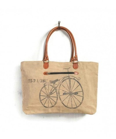 Mona Vintage Bicycle Canvas Tote