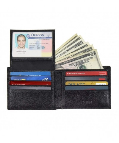Blocking Bifold Genuine Leather Wallet