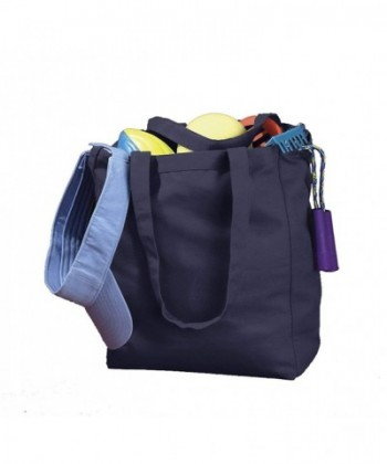 BX CANVAS BOOK TOTE NAVY