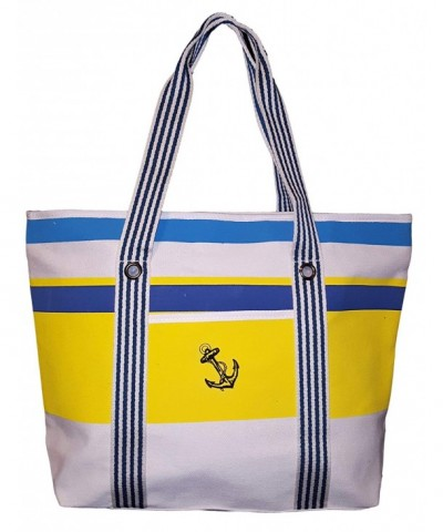 Striped Tote Beach Anchor Personalization