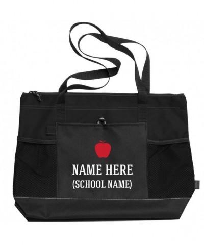Custom Teacher Bag Apple Zippered
