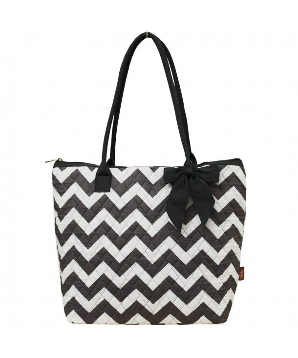Gray Chevron NGIL Quilted Tote