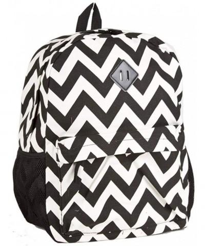 Ever Moda Chevron Canvas Backpack