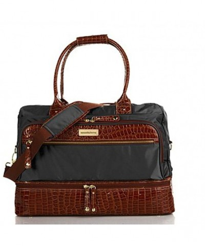 Samantha Brown Croco Embossed Bottom Weekender