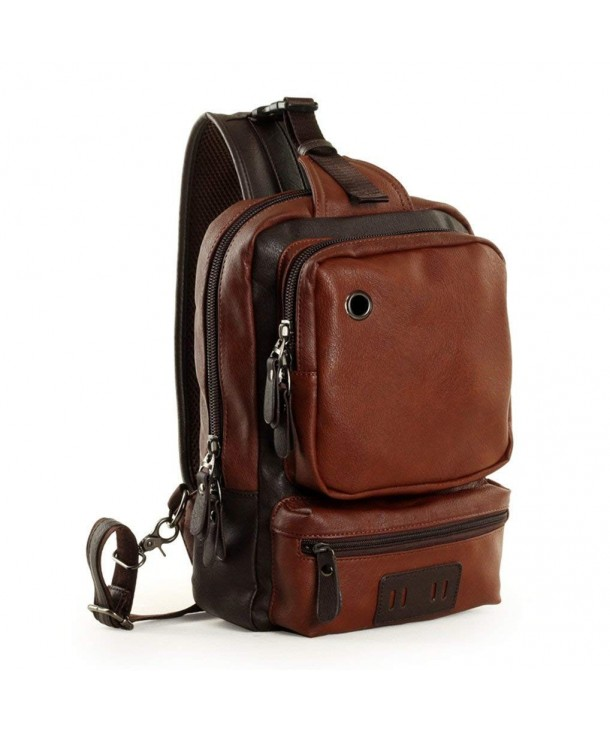 Gumstyle Fashion Leather Cross Daypacks