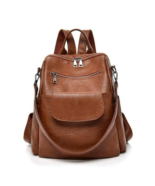 Backpack Leparvi Leather Capacity Style2 Brown