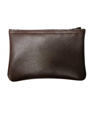 Genuine Leather purse Buttery BROWN